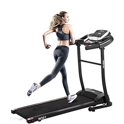 Decor Hut Folding Electric Treadmill Classic Style Home Gym Motorized Running Machine – Large LED Display