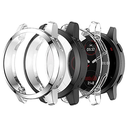 Protector para Garmin Venu 2S transparente, negro, plateado
