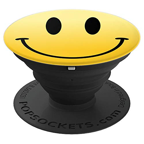 Mr Happy Smiley Face Positive Cute - PopSockets Grip and Stand for Phones and Tablets -