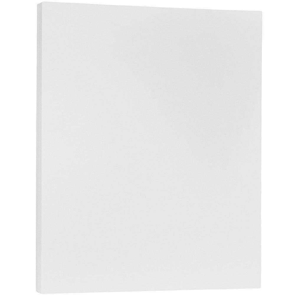 JAM Paper Translucent Vellum Cover - 215 x 279 mm (8.5 x 11) Cardstock - 36 lb Clear - 50 Sheets per Pack 1566