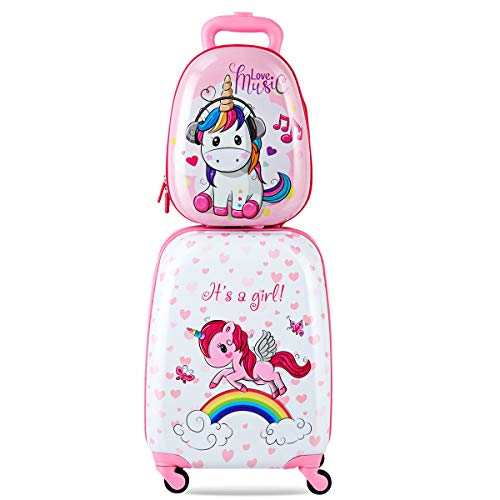 Goplus 2Pc Kid Luggage, 12
