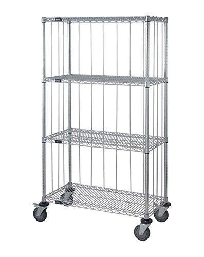 - Quantum 3 Sided 4 Wire Shelf Cart 63