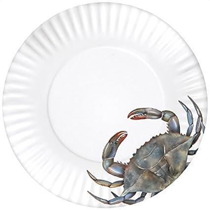 4 Melamine Plates Blue Crab Design 11 Inch Diameter  sc 1 st  Amazon.in & 4 Melamine Plates Blue Crab Design 11 Inch Diameter: Amazon.in ...