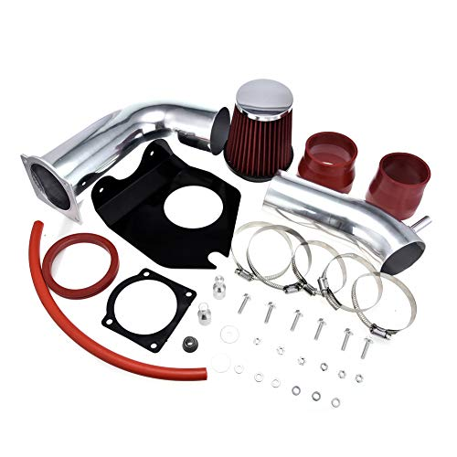 TOHUU Performance Coupe Cold Air Intake Kit with Air Filter and Heat Shield for 1999-2004 Ford Mustang Base 3.8L V6(Red)