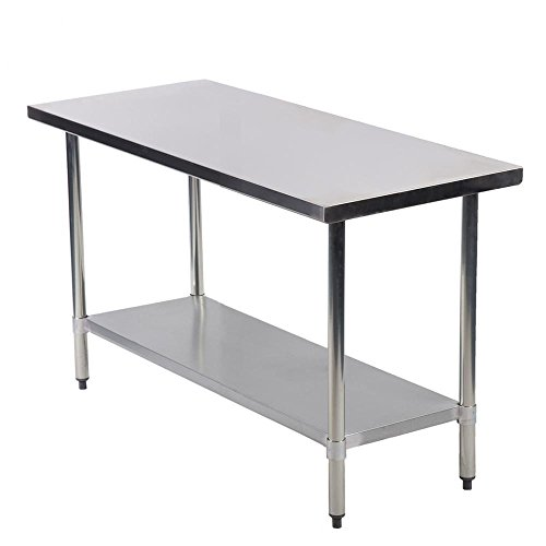Commercial Kitchen Restaurant Stainless Steel Work Table, 24 X 48 Inchs by FDW (Image #1)