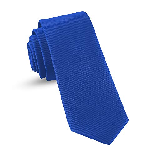 Ties For Boys - Self Tie Woven Boys Ties: Neckties For Kids Formal Wedding Graduation School Uniforms (Royal Blue)