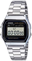 Casio Men's A158W-1 Stainless Steel Digi...