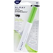 Almay One Coat Get Up & Grow Extreme Length Waterproof Mascara, Black [020] 0.21 oz (Pack of 2)