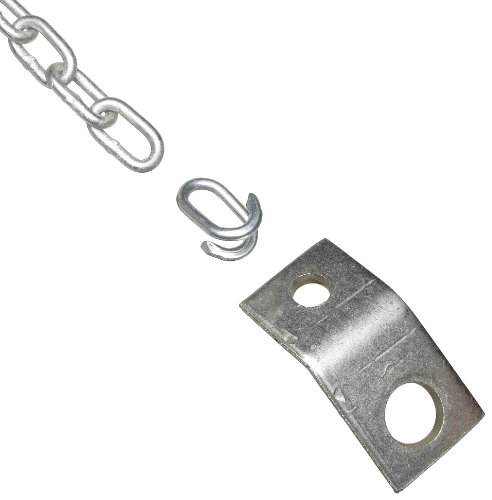 Anchor Chain Sizes - IRONguard 60-7236 Galvanized Steel Tie Back Chain for Wheel Chock, 12' Length, 3/16