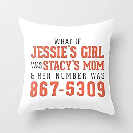 Amazon com: Decorative Pillow Case Jenny I Got Yo Numba