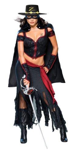 Zorro Boots (Secret Wishes Women's Zorro, Lady Zorro Adult Costume, Multicolor, Medium)