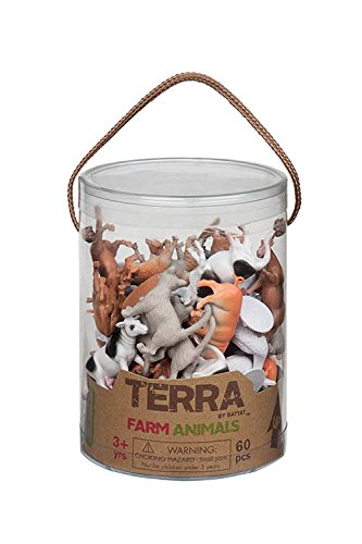 Toys Action Farm (Battat Terra Farm Animals In Tube Action Figure Set)