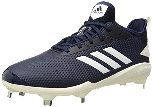 adidas Men's Adizero Afterburner V Baseball Shoe, Collegiate Navy/Cloud White/Black, 6.5 M US