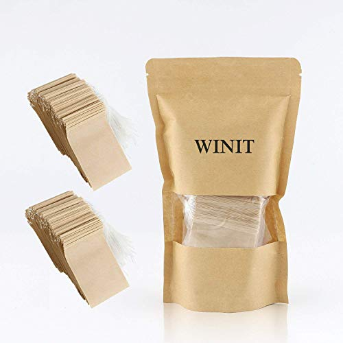 300PCS Tea Filter Bags, Disposable Paper Tea Bag with Drawstring Safe Strong Penetration Unbleached Paper for Loose Leaf Tea and Coffee by WINIT (Image #5)