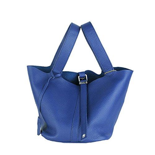 en fashion bandoulière Valin main Sac cuir à femme portés Sac 8098 LF Bleu main Sac xYw1rYpfq