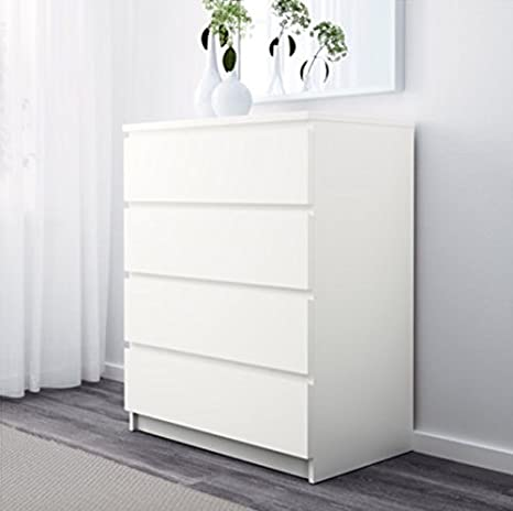 Ikea MALM - Juego de 4 cajones, White Stained Oak, 80x100cm ...
