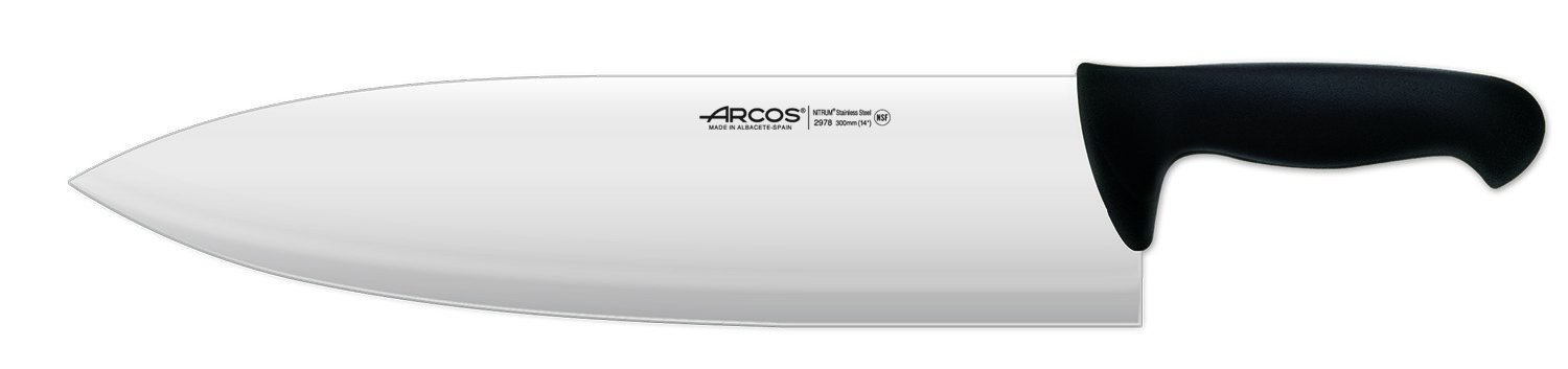Arcos 14-Inch 360 mm 685 gm 2900 Range Cleaver, Black by ARCOS (Image #1)