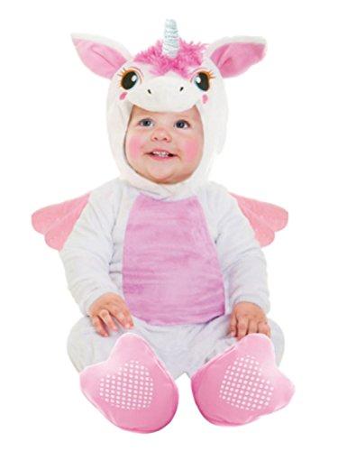 [Goodmark Infant Girls Unicorn Costume Plush White Jumper with Wings] (Primrose Halloween Costume)