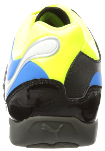 Puma PowerCat 3 IT 102795 - Zapatillas de fútbol de cuero para hombre Schwarz (black-fluo yellow-white-brilliant blue 03)