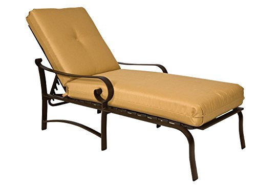 Adjustable Chaise Khaki - Woodard  Belden Cushion Adjustable Chaise Lounge, Khaki, Spectrum Dove
