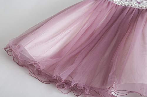 Viola Ragazza Abiti Floreale Tulle To 11 Vestiti Cerimonia Anni Cielarko Vestito Bambina Elegante Principessa Per Formale 2 fnaaSz