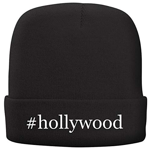 BH Cool Designs #Hollywood - Adult Hashtag Comfortable Fleece Lined Beanie, Black