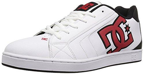 DC Mens Net Lace-Up Shoe, White/Athletic Red/Armor, 40.5 D(M) EU/7 D(M) UK