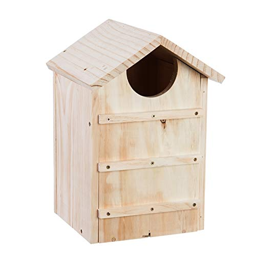 Evergreen Garden Screech Owl House Wooden Nesting ()