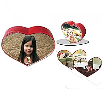 Buy Fiestar Rotating Heart Shape Dual Photo Frame - A Perfect Gift ...