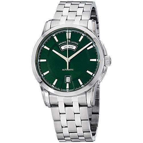 Maurice Lacroix Pontos Automatic Movement Green Dial Men's Watch PT6158-SS002-63E-1