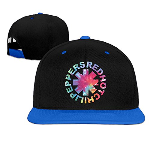 Unisex Rhcp Red Hot Chili Peppers Band Anthony snap-back flat brim hat SkyBlue One Size (Chili Pepper Hat)