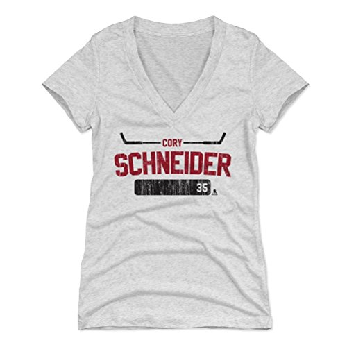 500 LEVEL's Cory Schneider Women's V-Neck Shirt X-Large Tri Ash - New Jersey Hockey Fan Apparel - Cory Schneider Athletic R