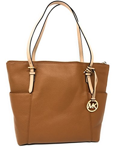 Michael Kors Jet Set East West Top Zip Leather Tote (Acorn) ()