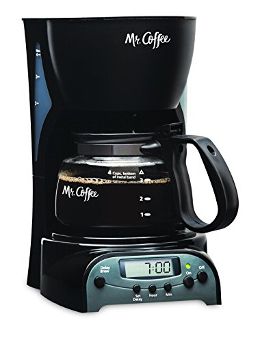 Mr. Coffee 4-Cup Programmable Coffeemaker, DRX5