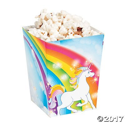 Fun Express Mini Unicorn Popcorn Treat Boxes 24 Pack Rainbow Magical Sparkle Snack Paper Box For Kids Birthday Party Favor Supplies Decorations]()