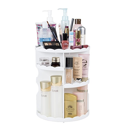 DreamGenius Makeup Organizer 360 Degree Rotating Adjustable Multi-Function Cosmetic Storage