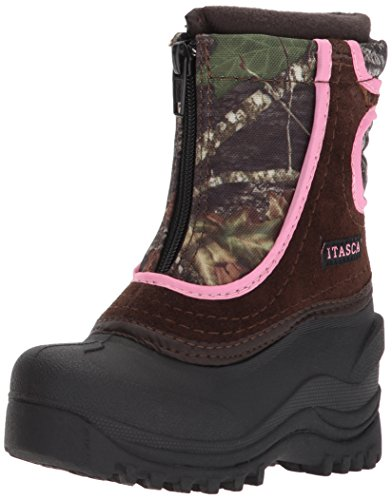 Itasca Girls Youth Waterproof Snow Stomper Winter Boot, Camouflage/Pink, 10.0 Standard US Width US Little Kid ()