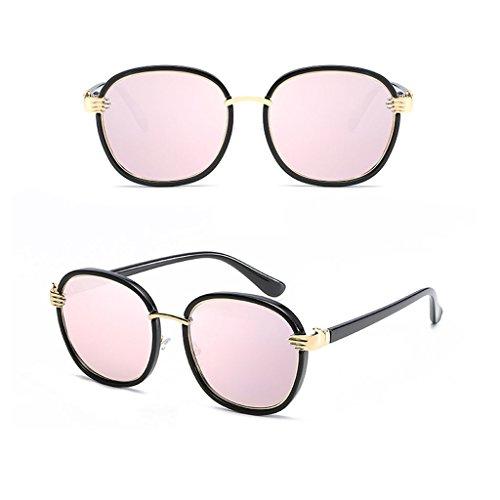 a Anti con Sombra Espejo Resistente luz Sol C6 vértigo Gafas los Rayos UV de polarizada Redonda Color Driver Metal Ms C2 lele Personalidad Cara Ai xaRqFF