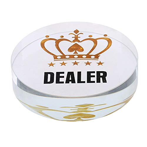 STORE-HOMER - Pro Casino ALL IN Acrylic Poker Chip Texas Hold'em Card Guard Game Accessory