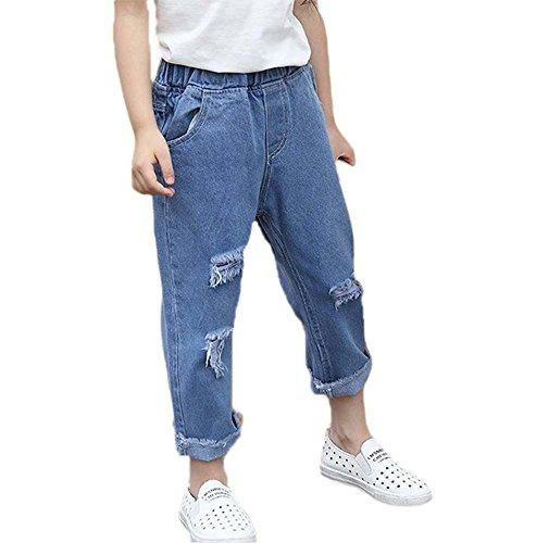 Keephen Jeans sueltos Casual Girls Boys Summer Fashion Pantalones BOxBTvR