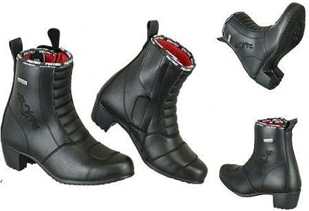 Zapatos de tac/ón Impermeables para Mujer con dise/ño de Flores para Moto Profirst Global