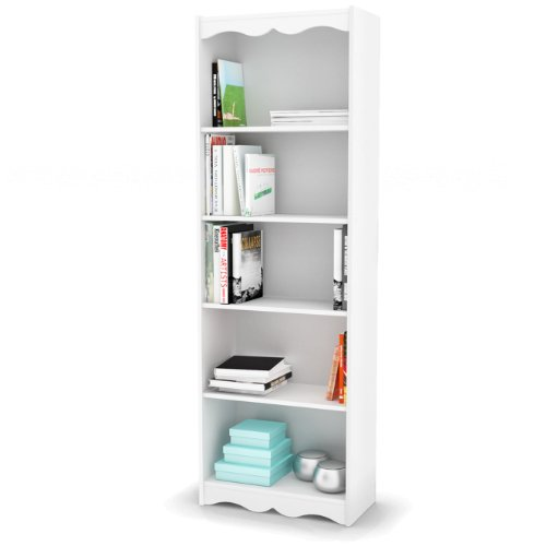 Sonax Hawthorn 72 Inch Tall Bookcase Frost White