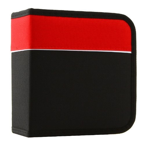 Boostwaves Premium Cloth 24 Compact Disc CD DVD Blu-Ray Media Wallet Folder Carrying Case, Assorted Colors