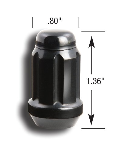 Gorilla Automotive 21133BC Small Diameter Acorn Black 5 Lug Kit (12mm x 1.50 Thread Size) - Pack of 20 by Gorilla Automotive (Image #2)
