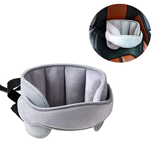 StoHua Baby Car Seat Head Support Band - Child Neck Relief Safe Sleep Positioner Toddler Car Seat Sleep Nap Aid Holder Band, Grey from StoHua