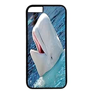DIY Case Cover For iPhone 6 Black PC Back Phone Case Hard Single Shell Skin For iPhone 6 With White Smling Dolphin