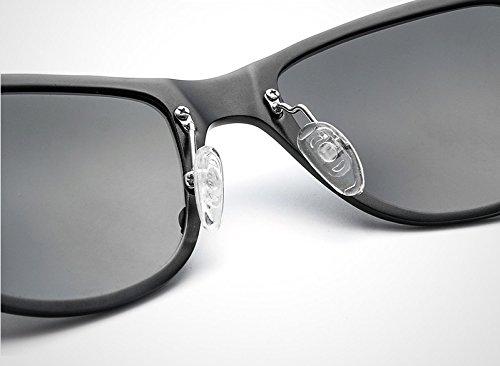 Gafas Classic Gray Color de Unisex Mujer para gray Gafas Hombre Sol Yumeik Arroz Gafas Sol Black de polarizadas Nail UV400 Blue Vintage x6zUTq0