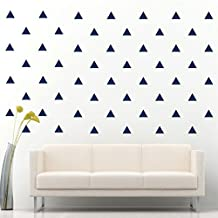 JCM Custom Triangle Removable Wall Vinyl Decal Sticker Wall Décor, Navy Blue