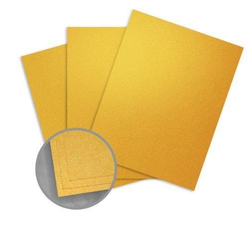 ASPIRE Petallics Gold Ore Card Stock - 8 1/2 x 11 in 98 lb Cover Metallic C/2S 200 per Package