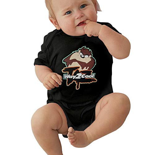 LUCY FOSTER Looney Tunes Tasmanian Devil Taz Unisex Funny Newborn Baby Romper Baby BoyPlay Suit 43 Black